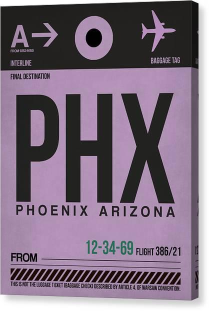Phoenix Canvas Print - Phoenix Airport Poster 1 by Naxart Studio
