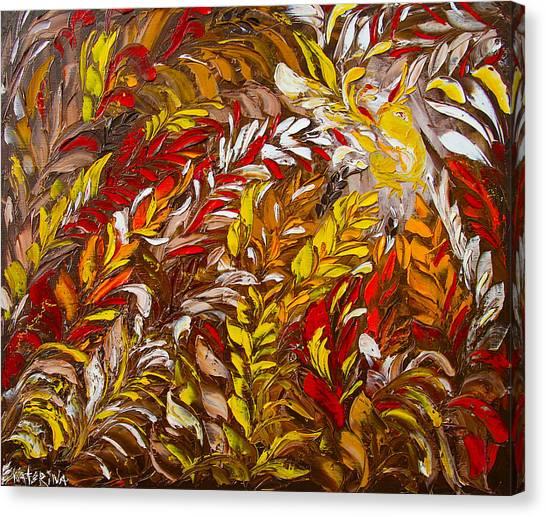 Phoenix Flower Painting Canvas Print
