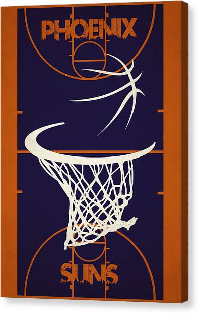 Phoenix Suns Canvas Print - Phoenix Suns Court by Joe Hamilton