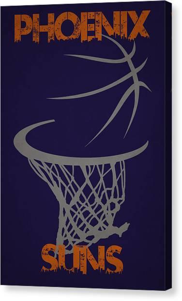 Phoenix Suns Canvas Print - Phoenix Suns Hoop by Joe Hamilton