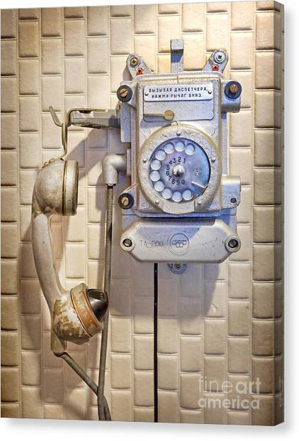 Phone Kgb Surveillance Room Canvas Print