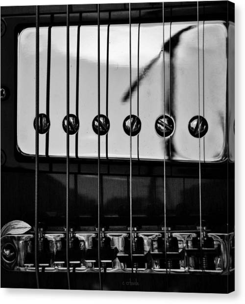 Phone Pole Reflection Canvas Print