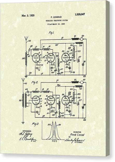 Phone System 1925 Canvas Print