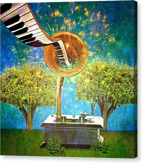 Phonograph Magic Canvas Print