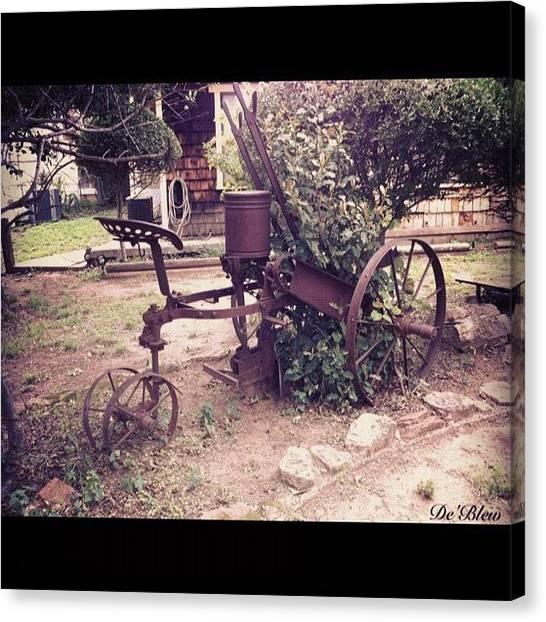 Equipment Canvas Print - #phonto #antique #plow #farm #equipment by Deb Lew