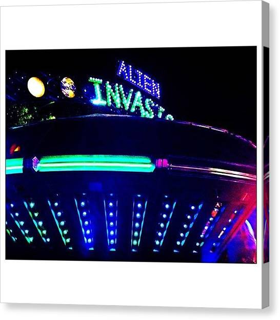 Ufos Canvas Print - Photo I Shot Of The Alien Invasion! by Marcus Friedhofer