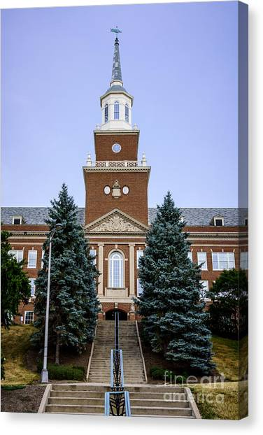 Aac Canvas Print - Photo Of Mcmicken Hall At University Of Cincinnati by Paul Velgos