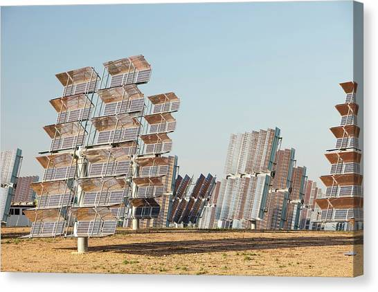 Clean Energy Canvas Print - Photo Voltaic Panels by Ashley Cooper