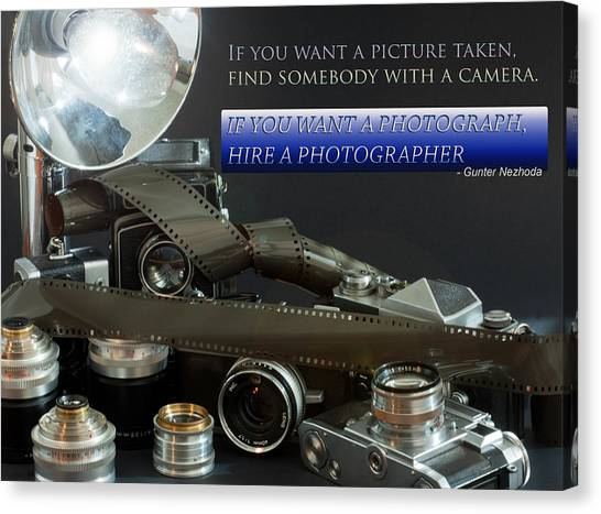 Photographer Quote Canvas Print