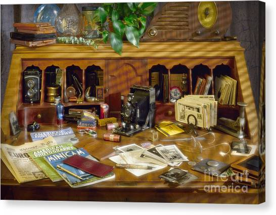Photographers Desk 1939 Canvas Print