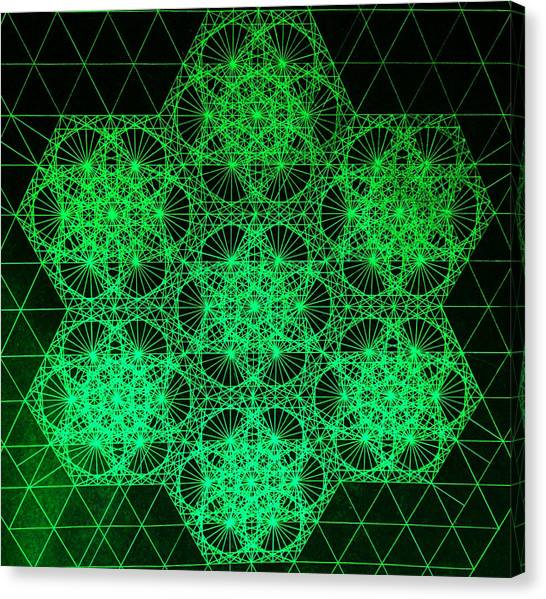 Photon Interference Fractal Canvas Print