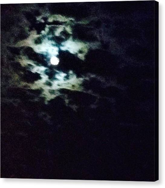 Wolf Moon Canvas Print - #photooftheday , #moonshine, #yoga by Tony Martinez