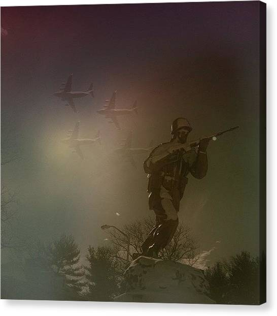 Soldiers Canvas Print - #photooftheday #picoftheday by Howard Stozki