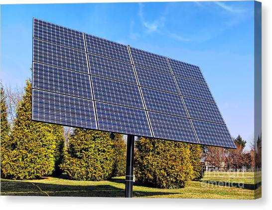 Installation Art Canvas Print - Photovoltaic by Olivier Le Queinec