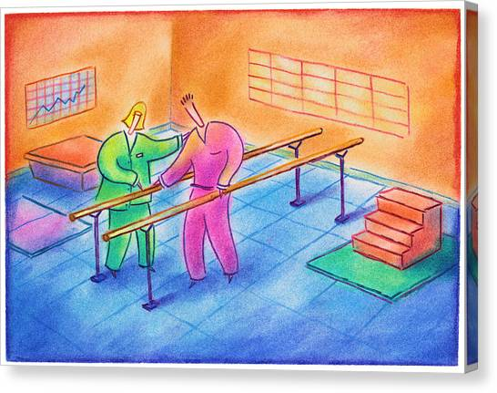 Physical Therapy Patient Canvas Print by Craig Smallish