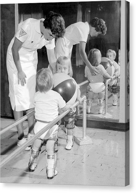 Braces Canvas Print - Physiotherapy by Cdc/science Photo Library