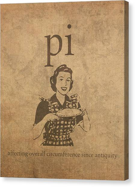 Pi Canvas Print - Pi Affecting Overall Circumference Since Antiquity Humor Poster by Design Turnpike