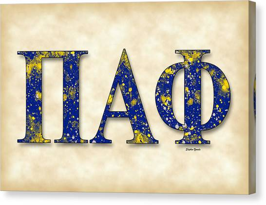 Alpha Phi Alpha Canvas Print - Pi Alpha Phi - Parchment by Stephen Younts