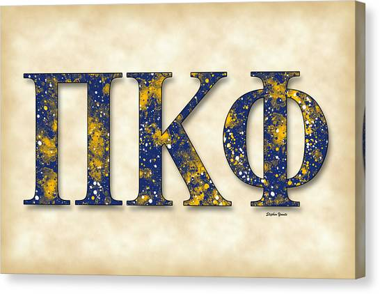 Pi Kappa Phi Canvas Print - Pi Kappa Phi - Parchment by Stephen Younts