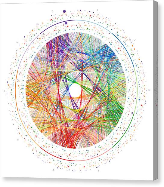 Pi Canvas Print - Pi Transition Paths by Martin Krzywinski
