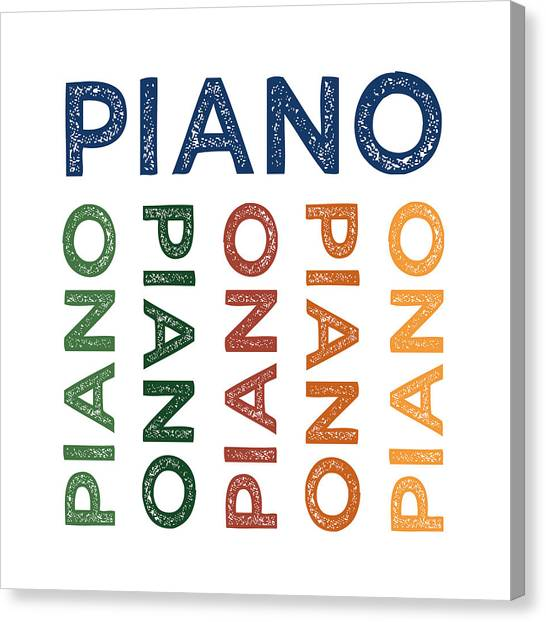 Pianos Canvas Print - Piano Cute Colorful by Flo Karp