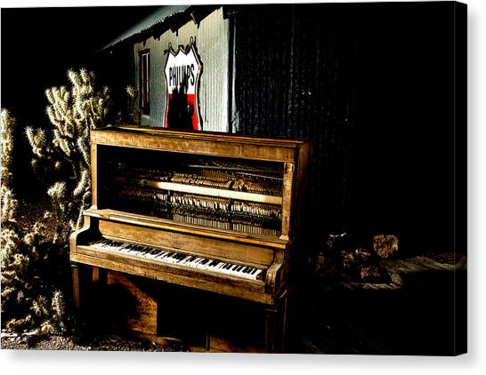 Piano In The Dark.  Canvas Print