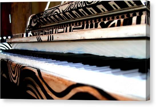 Piano In The Dark - Music By Diana Sainz Canvas Print