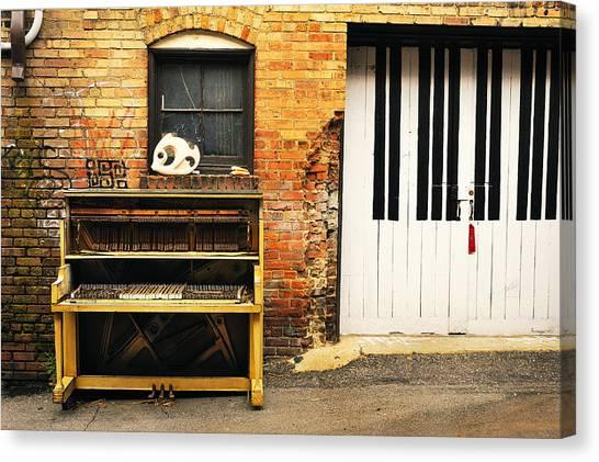 Piano Keys Canvas Print by Joe Longobardi