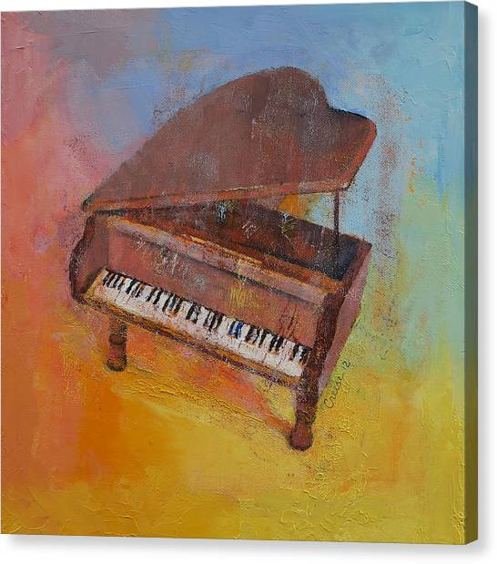 Pianos Canvas Print - Toy Piano by Michael Creese