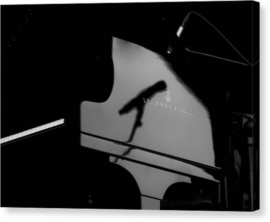 Piano Needs A Microphone Canvas Print by Tony Reddington