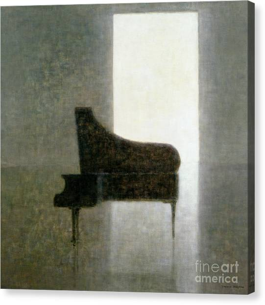 Pianos Canvas Print - Piano Room 2005 by Lincoln Seligman