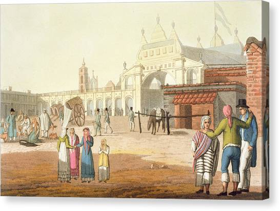Argentinian Canvas Print - Piazza Del Mercato, Buenos Aires by Paolo Fumagalli