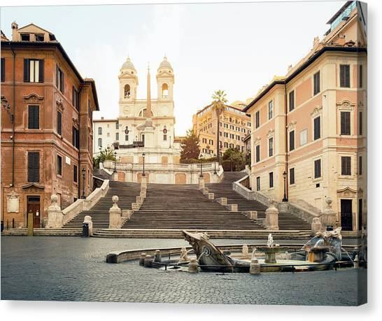 Piazza Di Spagna, Spanish Steps, Rome Canvas Print by Spooh