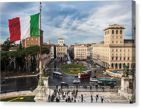 Piazza Venezia Canvas Print