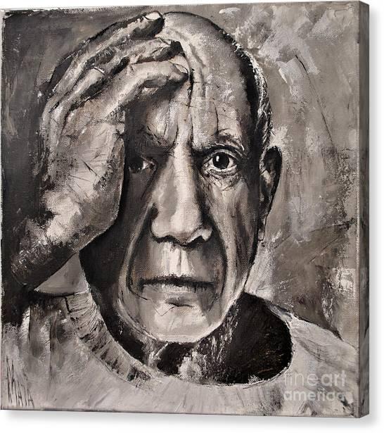 Portrait Of Pablo Picasso Canvas Print