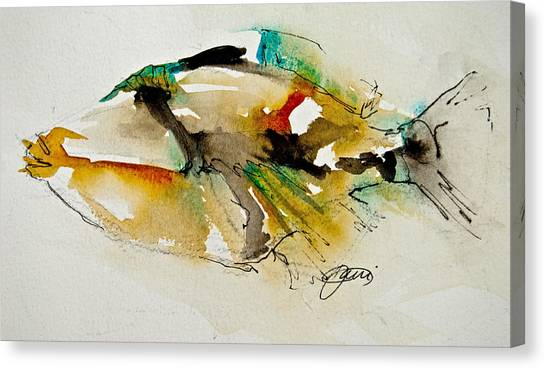 Tropical Fish Canvas Print - Picasso Trigger by Jani Freimann