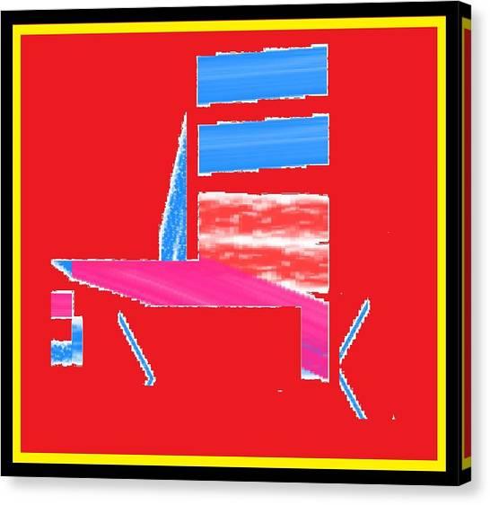 Silla De La Piscina Canvas Print