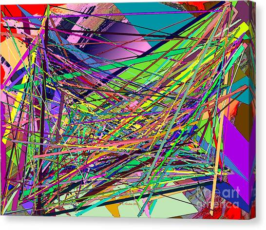 Canvas Print featuring the digital art Pick Up Sticks by Dee Flouton