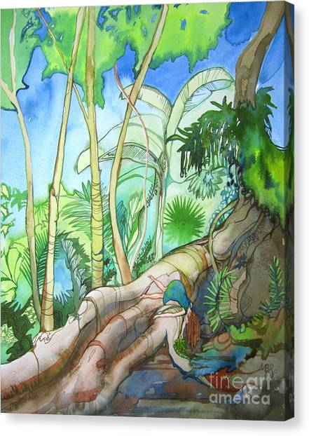 Picking Canvas Print by Maya Simonson