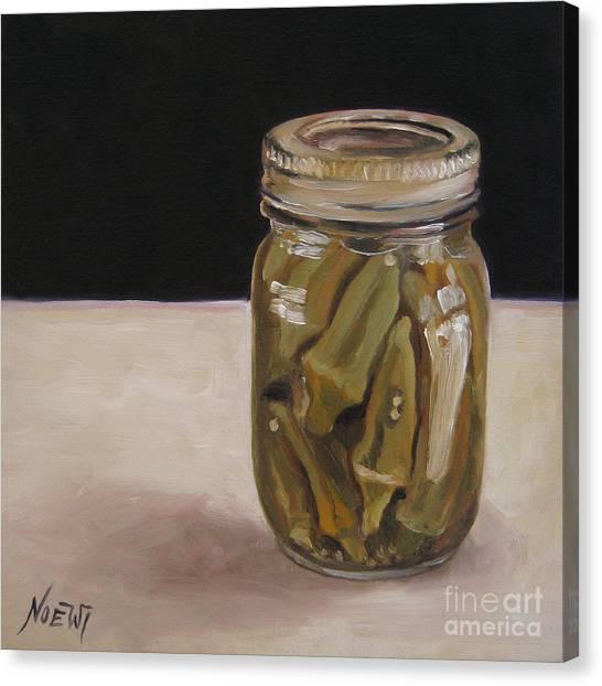 Pickled Okra Canvas Print