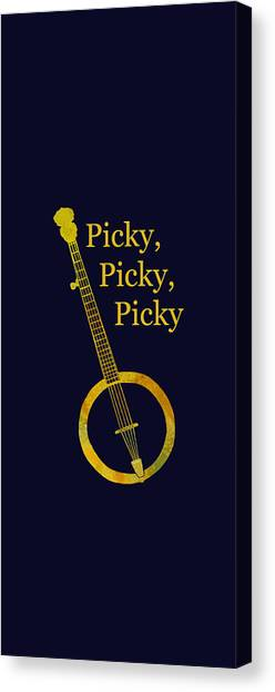Picky Banjo Canvas Print