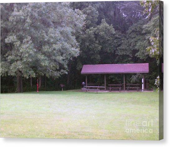 Picnic Shelter Canvas Print