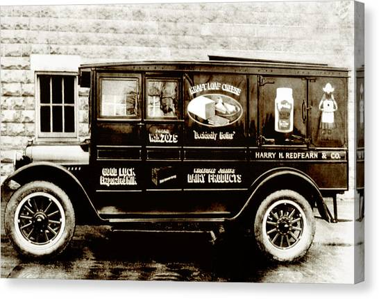 Picture 9 - New - Redfern Delivery Truck - Wide Canvas Print