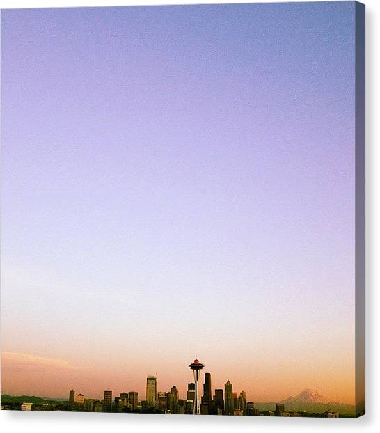 Seattle Skyline Canvas Print - Picture Doesn't Do It Justice by Terrence Jeffrey Santos