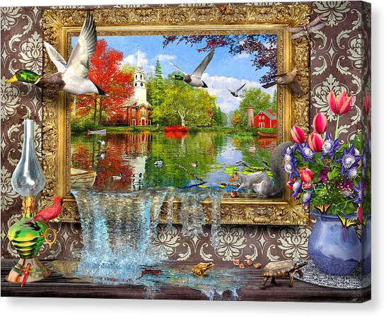 Newts Canvas Print - Picture Of Life by Dominic Davison