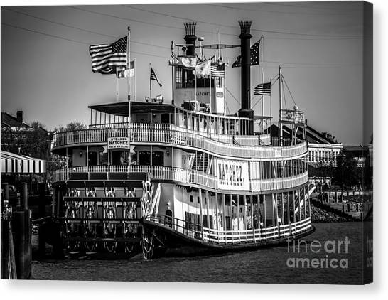 Mississippi River Canvas Print - Picture Of Natchez Steamboat In New Orleans by Paul Velgos