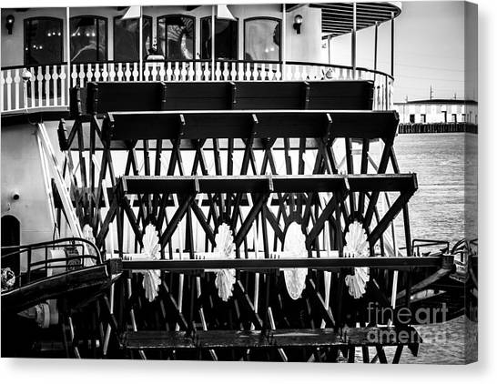 Mississippi River Canvas Print - Picture Of Natchez Steamboat Paddle Wheel In New Orleans by Paul Velgos