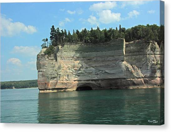 Pictured Rocks Battleship Formation Side View Canvas Print