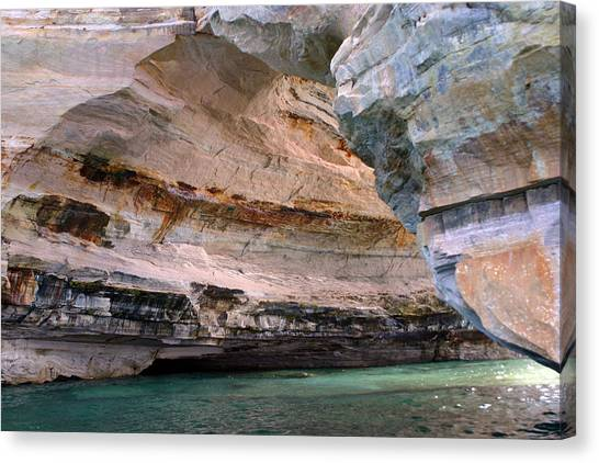 Pictured Rocks Bridge II Canvas Print by Kevin Snider