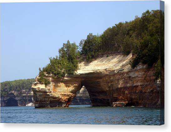 Pictured Rocks Bridge Canvas Print by Kevin Snider